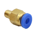PC4-M6 Pneumatic straight connector brass